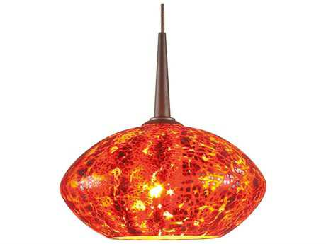 Bruck Lighting Pandora Garnet Glass 6'' Wide Halogen Mini Pendant Light