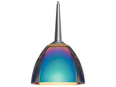 Bruck Lighting Rainbow- Sunset Glass 3'' Wide Halogen Mini Pendant Light