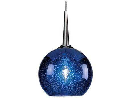 Bruck Lighting Bobo- Blue Bubble Glass 4'' Wide Halogen Mini Pendant Light