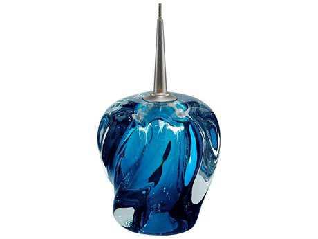 Bruck Lighting Aurora Blue Glass 4.5'' Wide Halogen Mini Pendant Light