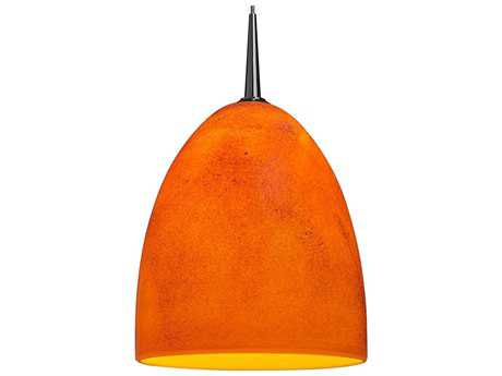 Bruck Lighting Alexander Tangerine Glass 6'' Wide Halogen Mini Pendant Light