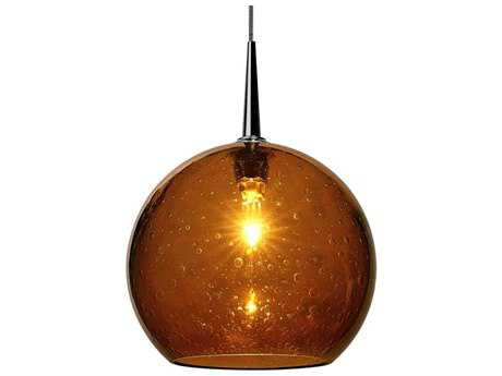 Bruck Lighting Bobo Amber Glass 6'' Wide Halogen Mini Pendant Light