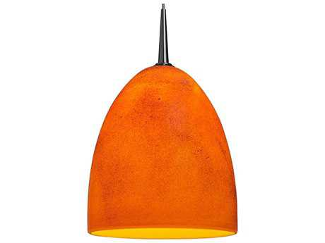Bruck Lighting Alexander Tangerine Glass 6'' Wide LED Mini Pendant Light