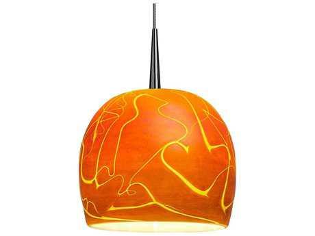 Bruck Lighting Delta Amber Glass 6'' Wide Halogen Mini Pendant Light