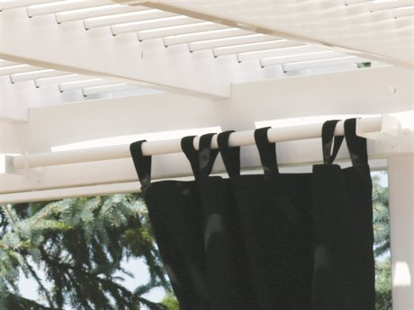 Berlin Gardens Bradford Pergola 40'' Curtain Rods PatioLiving