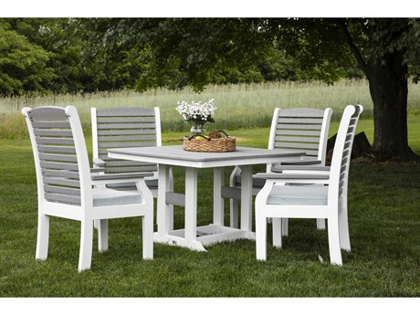 Berlin Gardens Classic Terrace Recycled Plastic Dining Set PatioLiving