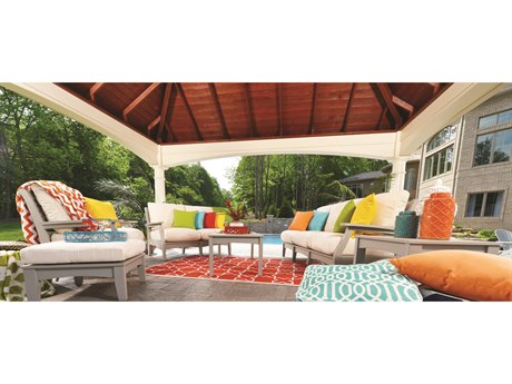 Berlin Gardens Classic Terrace Recycled Plastic Cushion Lounge Set BLGCLSSCTRRNCELNGSET6