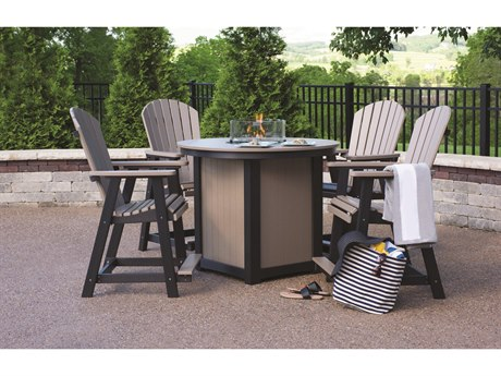 Berlin Gardens Comfo-back Recycled Plastic Firepit Counter Set
