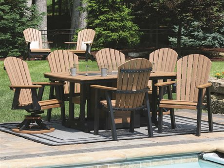 Berlin Gardens Comfo-Back Recycled Plastic Firepit Dining Set PatioLiving