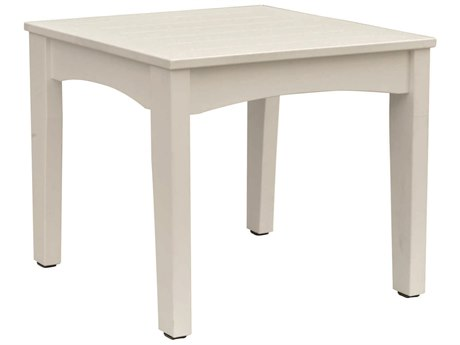 Berlin Gardens Classic Terrace Recycled Plastic 25''W x 23''D Rectangular End Table