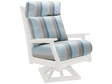 Berlin Gardens Classic Terrace Recycled Plastic High Back Swivel Rocker Lounge Chair PatioLiving