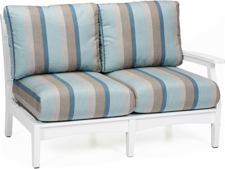Berlin Gardens Classic Terrace Recycled Plastic Left Arm Loveseat PatioLiving