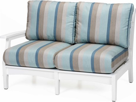 Berlin Gardens Classic Terrace Recycled Plastic Right Arm Loveseat PatioLiving