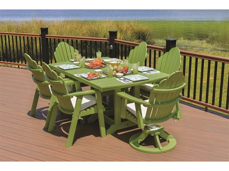 Berlin Gardens Cozi-back Recycled Plastic Dining Set