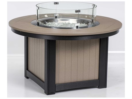 Berlin Gardens Donoma 44''Wide Round Fire Pit Table PatioLiving