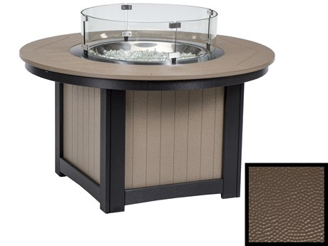 Berlin Gardens Donoma Recycled Plastic Hammered 44''Wide Round Fire Pit Table PatioLiving