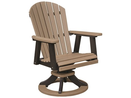 Berlin Gardens Comfo-Back Recycled Plastic Swivel Rocker Dining Chair