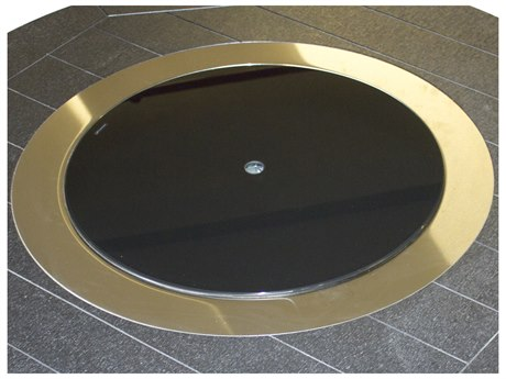 Berlin Gardens Donoma Accessories 20''Wide Round Black Glass Burner Cover PatioLiving