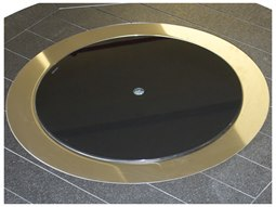 Donoma Accessories 20''Wide Round Black Glass Burner Cover