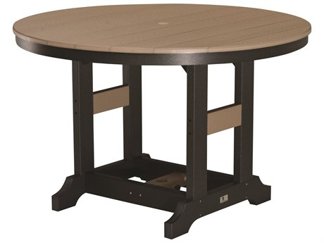 Berlin Gardens Garden Classic Recycled Plastic 48''Wide Round Dining Height Table with Umbrella Hole