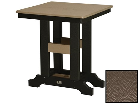 Berlin Gardens Garden Classic Recycled Plastic Hammered 28''Wide Square Dining Height Table PatioLiving