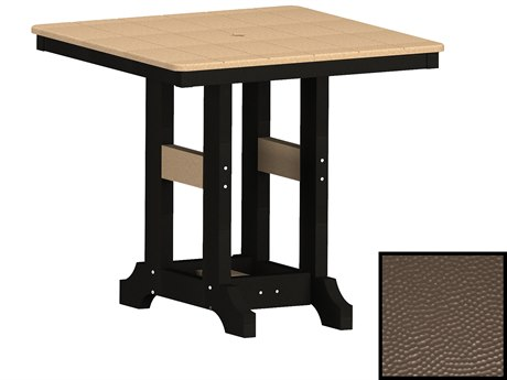 Berlin Gardens Garden Classic Recycled Plastic Hammered 33''Wide Square Dining Height Table PatioLiving