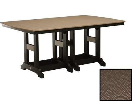 Berlin Gardens Garden Classic Recycled Plastic Hammered 72''W x 44''D Rectangular Counter Height Table