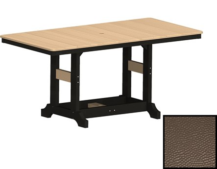 Berlin Gardens Garden Classic Recycled Plastic Hammered 66''W x 33''D Rectangular Dining Height Table PatioLiving