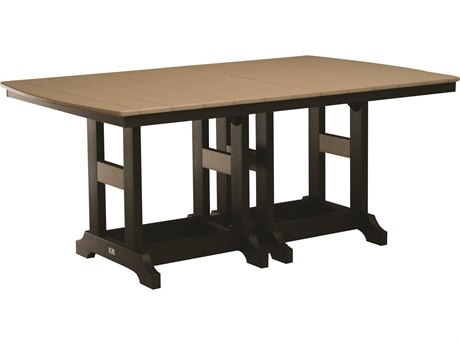 Berlin Gardens Garden Classic Recycled Plastic 72''W x 44''D Rectangular Bar Height Table BLGGCIT4472B