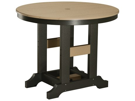 Berlin Gardens Garden Classic Recycled Plastic 38''Wide Round Counter Height Table with Umbrella Hole