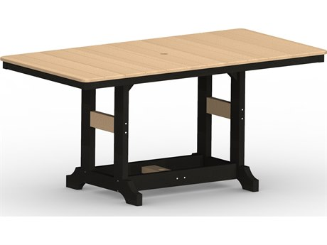 Berlin Gardens Garden Classic Recycled Plastic 66''W x 33''D Rectangular Bar Height Table