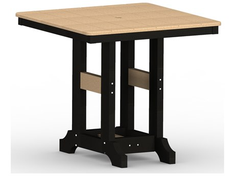 Berlin Gardens Garden Classic Recycled Plastic 33''Wide Square Counter Height Table PatioLiving