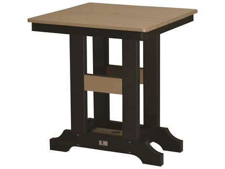 Berlin Gardens Garden Classic Recycled Plastic 28''Wide Square Table Dining Height Table