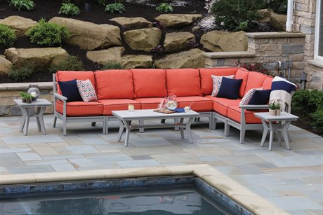 Berlin Gardens Mayhew Recycled Plastic Sectional Lounge Set PatioLiving