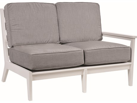 Berlin Gardens Mayhew Recycled Plastic Left Arm Loveseat PatioLiving