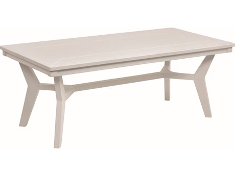 Berlin Gardens Mayhew Recycled Plastic 48''W x 23.5''D Rectangular Coffee Table PatioLiving