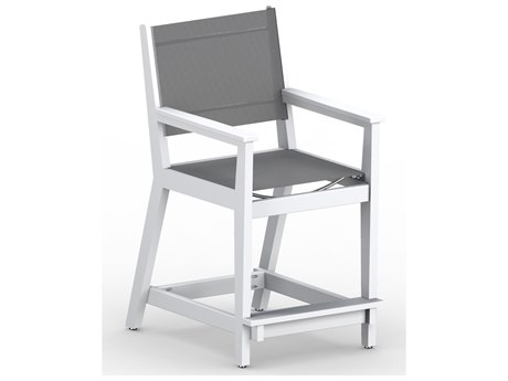Berlin Gardens Manhew Sling Recycled Plastic Counter Arm Chair PatioLiving