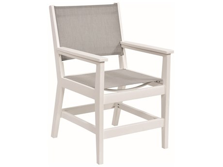 Berlin Gardens Mayhew Recycled Plastic Sling Dining Arm Chair PatioLiving