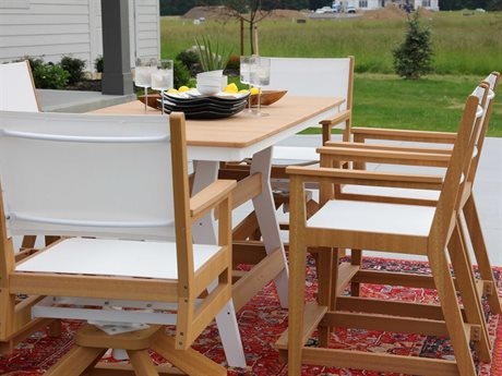 Berlin Gardens Manhew Sling Recycled Plastic Counter Set PatioLiving