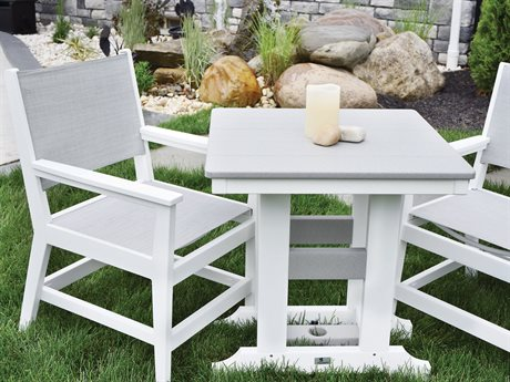 Berlin Gardens Manhew Sling Recycled Plastic Dining Set PatioLiving