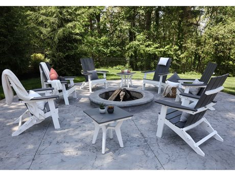 Berlin Gardens Mayhew Recycled Plastic Firepit Lounge Set PatioLiving