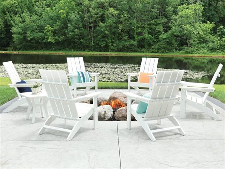 Berlin Gardens Manhew Recycled Plastic Firepit Lounge Set PatioLiving