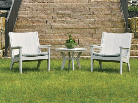 Berlin Gardens Manhew Recycled Plastic Lounge Set PatioLiving