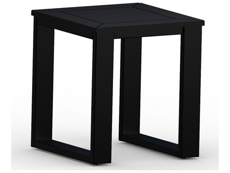 Berlin Gardens Nordic Recycled Plastic 18''Wide Square End Table PatioLiving