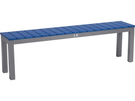 "Berlin Gardens Pax Poly Aluminum 62"" Dining Bench PatioLiving"