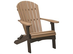 Berlin Gardens Comfo-Back Recycled Plastic Folding Adirondack Chair