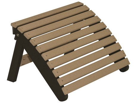 Berlin Gardens Accessories Recycled Plastic Folding Adirondack Footstool PatioLiving