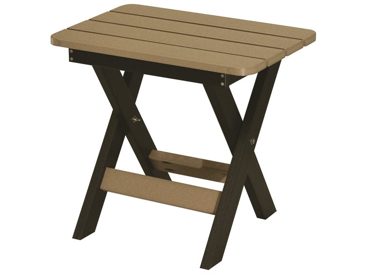 Berlin Gardens Accessories Recycled Plastic 22''W x 15''D Rectangular Folding End Table PatioLiving