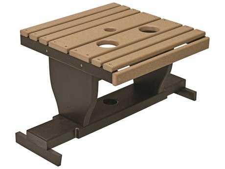 Berlin Gardens Accessories Recycled Plastic 30''W x 19''D Rectangular Gliding Settee Table PatioLiving