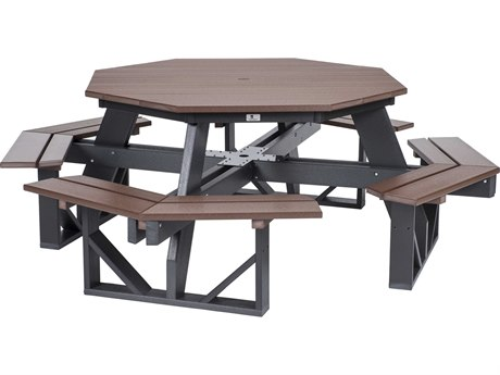 Berlin Gardens Recycled Plastic 86''W x 86''D Octagon Picnic Table